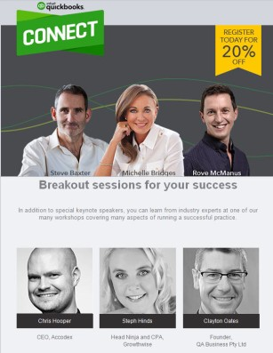 QBConnect AU Speakers Include Clayton Oates